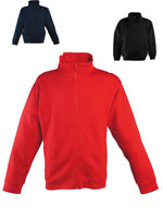 Sweatshirt Jacket  Unhooded Fitted Fleece Jacket in 65% polyester and 35% cotton fleece 280 gm².