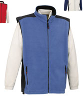 Μπουφάν - Fleece-Lined Waistcoat With Contrasting Shoulders And Sides