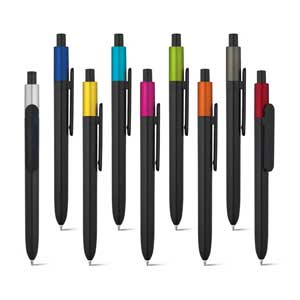 KIWU Metallic ABS ballpoint with shiny finish and lacquered top with metallic finish