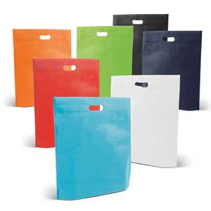 Bag. Non-woven: 80 g/m². Thermo sealed. 355 x 390 x 85 mm