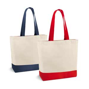 Bag. Cotton canvas: 280 g/m². With inside pocket and 65 cm handles. 460 x 400 x 150 mm