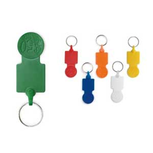 Key Holders - Keyring. PS. 0,50€ coin. 25 x 60 x 2 mm