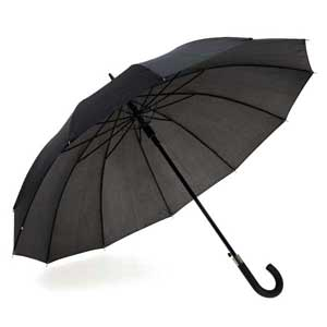 12-rib umbrella. 190T polyester. Rubber finish handle. Automatic. ø1100 mm