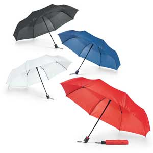 Compact umbrella. 190T polyester. 3 section shaft. Automatic. Supplied in pouch. ø980 mm | Pouch: ø45 x 245 mm