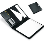 Ντοσιέ συνεδρίων - A4 PU portofolio with metal logo plate and notebook