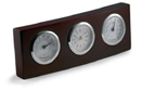 Office Accessories - Wooden stand clock/hygro/thermom.