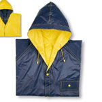 Αδιάβροχα - Reversible bicolour raincoat with hood.