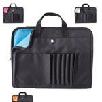 Τσάντες Συνεδρίων / Conference bags - Zipped laptop pouch with various compartments and handles that can be hidden. Colourful lining. 300D high density polyester.